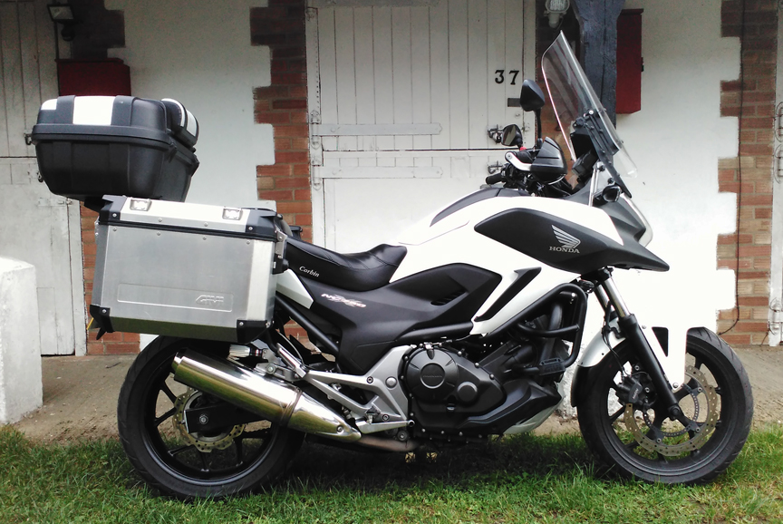 Picture of one of our motorcycles used for courier work