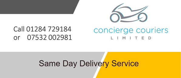 Same day delivery - by motorcycle courier